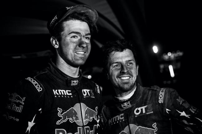 Blade Hildebrand (USA) and François Cazalet (FRA) of SSV Red-Bull Off-Road Team USA at the bivouac after the stage 3 of Rally Dakar 2020 at Neom, Saudi Arabia on January 07, 2020. // Flavien Duhamel/Red Bull Content Pool // AP-22QTHFE5S2111 // Usage for editorial use only //