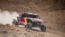 Blade Hildebrand (USA) and François Cazalet (FRA) of SSV Red-Bull Off-Road Team USA races during stage 4 of Rally Dakar 2020 from Neom to Al-Ula, Saudi Arabia on January 08, 2020.