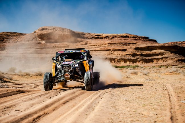 Casey Currie at stage 11 of the 2020 Dakar Rally photo by MCH photo