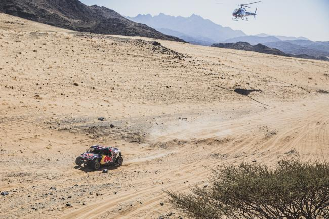 Cyril Despres (FRA) and Mike Horn (CHE) of SSV Red-Bull Off-Road Team USA races during stage 1 of Rally Dakar 2020 from Djeddah to Al Wajh, Saudi Arabia on January 05, 2020.