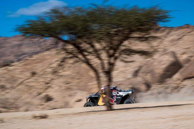 Mitch Guthrie at stage 2 of the 2020 Dakar Rally