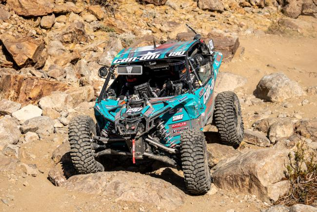 Hunter Miller in his Can-Am Maverick X3 at the 2020 King of the Hammers UTV Race