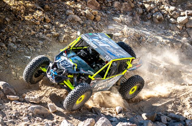 Kyle Chaney driving his Can-Am Maverick X3 at the 2020 King of the Hammers UTV Race