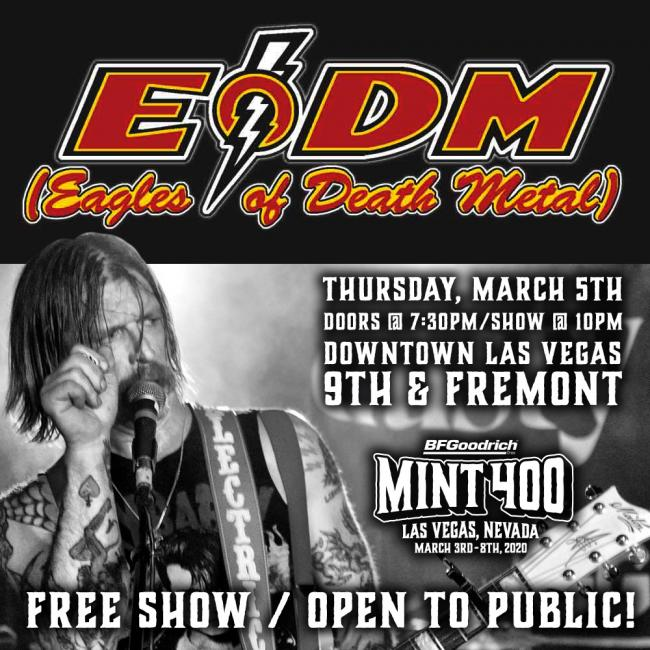 eagles of death metal to headline the mint