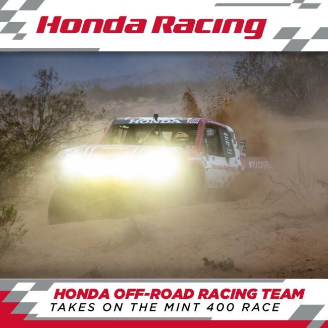 Honda off road racing team takes on the mint 400 1