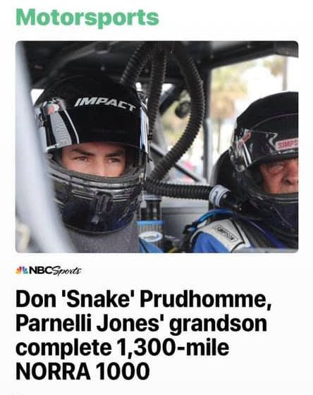 PJ Jones Don Prudhomme and Nick Firestone Return to the NORRA Mexican 1000 6