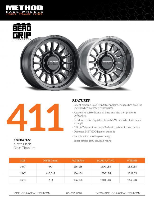 method race wheels UTV 411 options