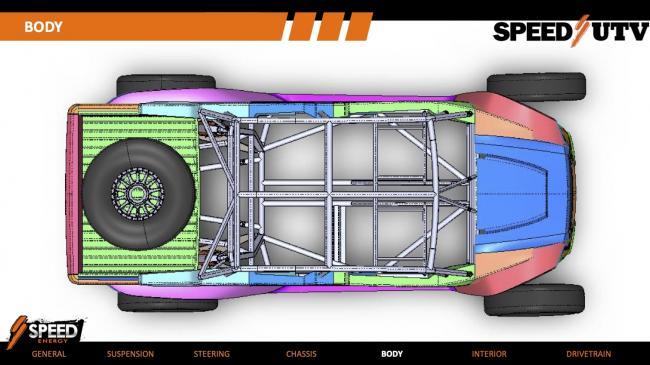 2021 Speed UTV body from top