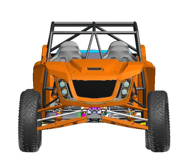 2021 speed UTV 4 seater from the front latest design