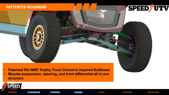 2021 speed UTV bulkhead front axle suspension mounting 1