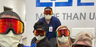 Healthcare Workers California Goggles From Giro Cycling Credit Daisy Virgen