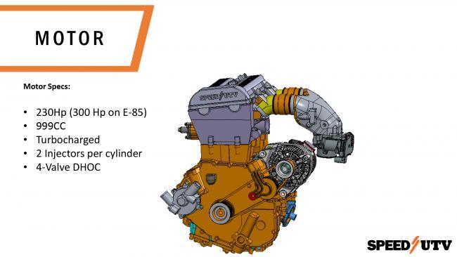 The Speed UTV 999CC engine