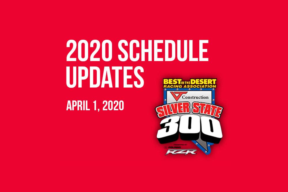 best in the desert bitd 2020 schedule update