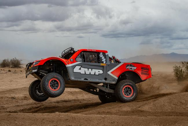 sarah price racing at the mint 400 with her raceline wheels