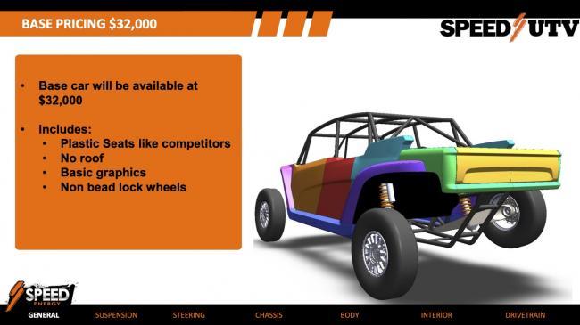 speed UTV base model specification 1