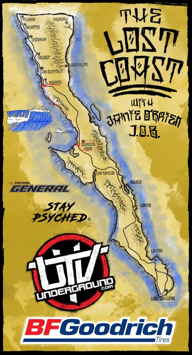 2020 UTVUG Jamie obrien baja surfari Map