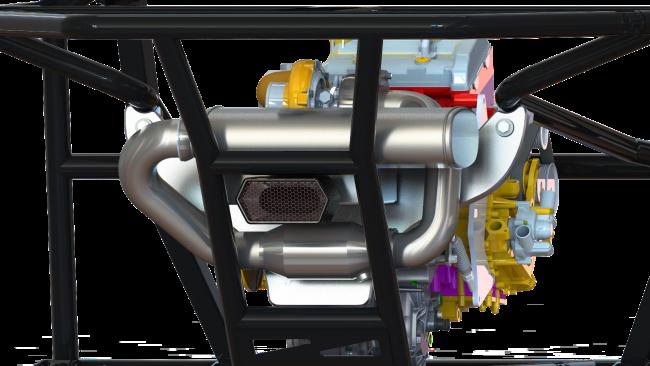 2021 Speed UTV engine motor render