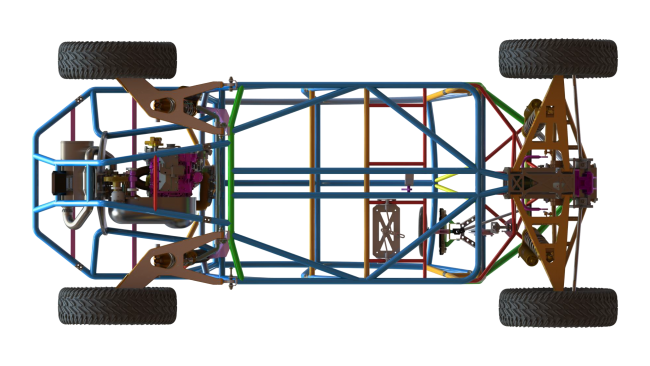4 seater chassis from the bottom