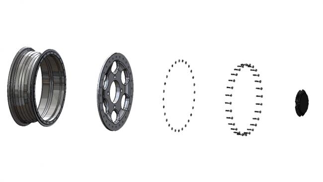speed UTV beadlock wheel broken down