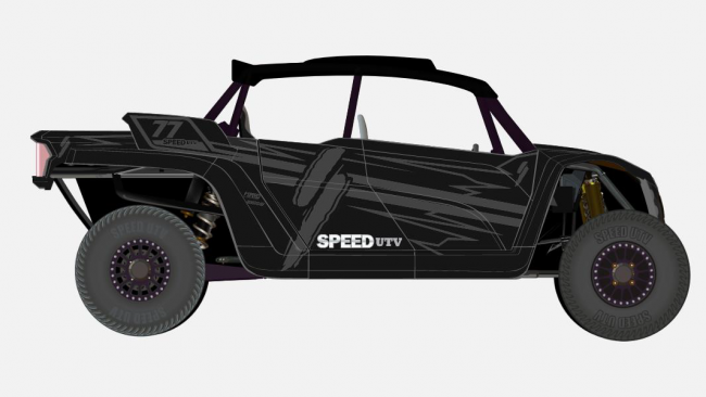 speed UTV black and gray