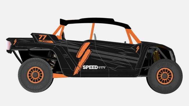 speed UTV black and orange