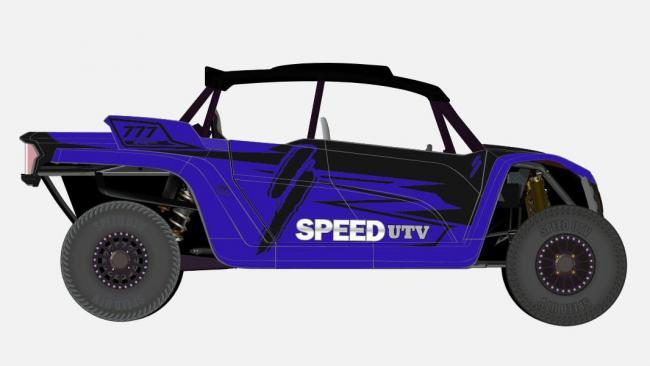 speed UTV black and purple