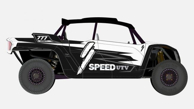 speed UTV black and white