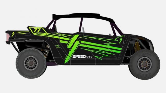 speed UTV green and black