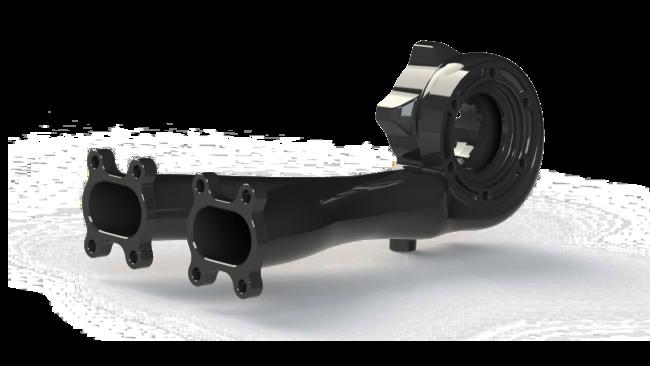 speed UTV integrated manifold and turbine