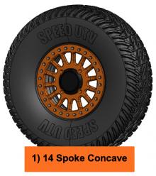 speed UTV wheel 14 spoke concave