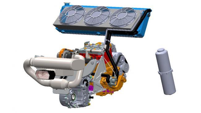 2021 speed UTV engine exhaust and radiator