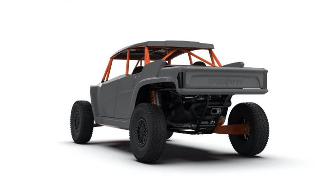 2021 speed UTV robby gordon edition from the back