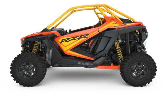 Polaris RZR PRO XP Orange Madness 2 Seater from the driver left side