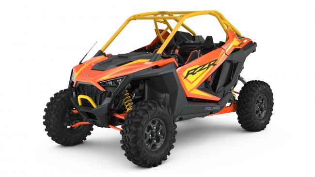 Polaris RZR PRO XP Orange Madness 2 Seater from the front side