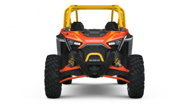 Polaris RZR PRO XP Orange Madness 4 Seater from the front