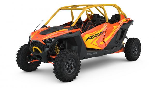 Polaris RZR PRO XP Orange Madness 4 Seater from the front side