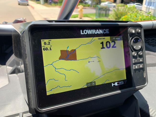 Rugged Routes UTV Infrared Belt Tempature Sensor digital display on lowrance gps