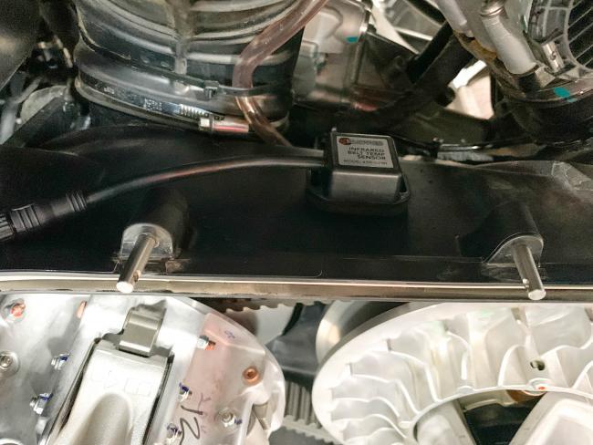 Rugged Routes UTV Infrared Belt Tempature Sensor installed on cage 1