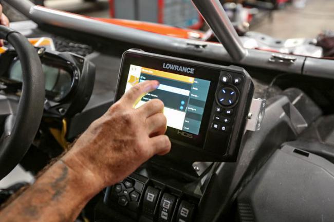 Rugged Routes UTV Infrared Belt Tempature Sensor options on screen