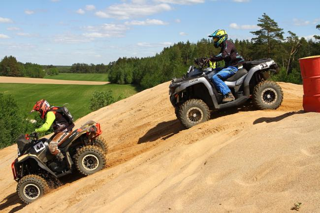 cfmoto factory racing team UTV side by side race in lithuania 42