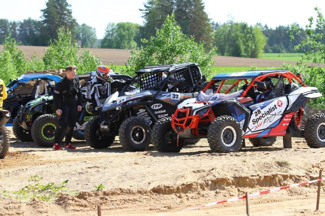 cfmoto factory racing team UTV side by side race in lithuania 57