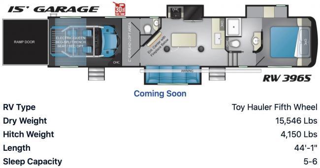 speed UTV annouced a toy hauler rw3965