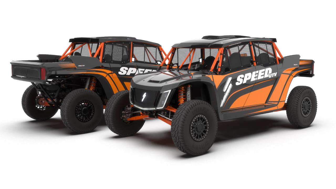 speed UTV el jefe rg edition black and ornage design 1