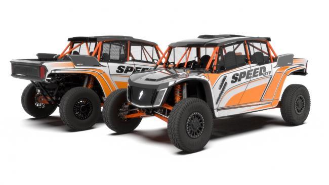 speed UTV el jefe rg edition orange and white design 2