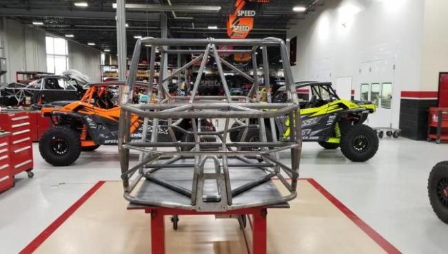 speed UTV prototype chassis from the front