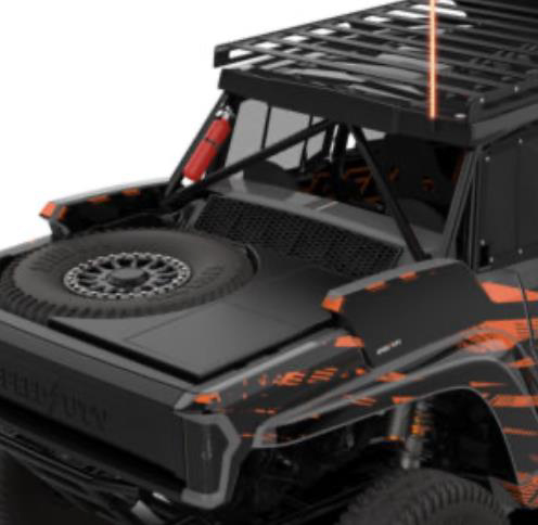 speed UTV storage boxes with spare tire and cooler