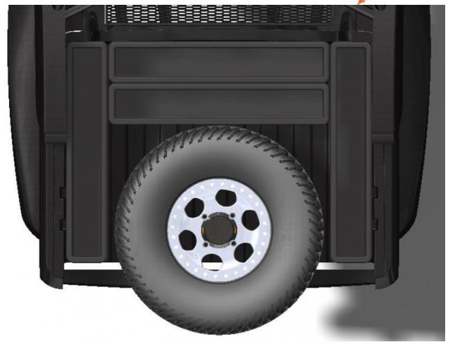 speed UTV tire mounting option in the bed