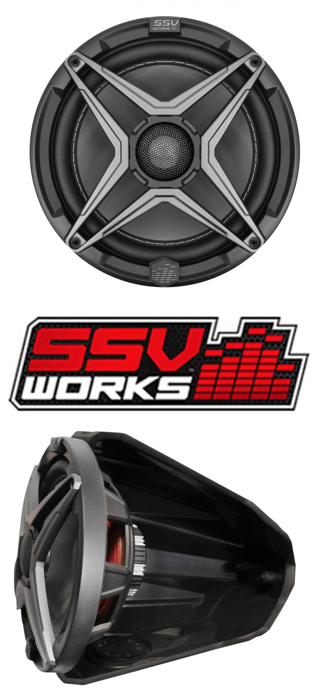 SSV Works 8 inch powersports speaker front side