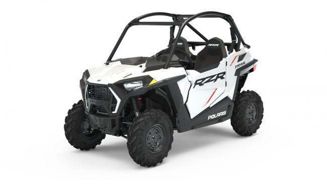 2021 rzr trail sport white lightning 3q 1