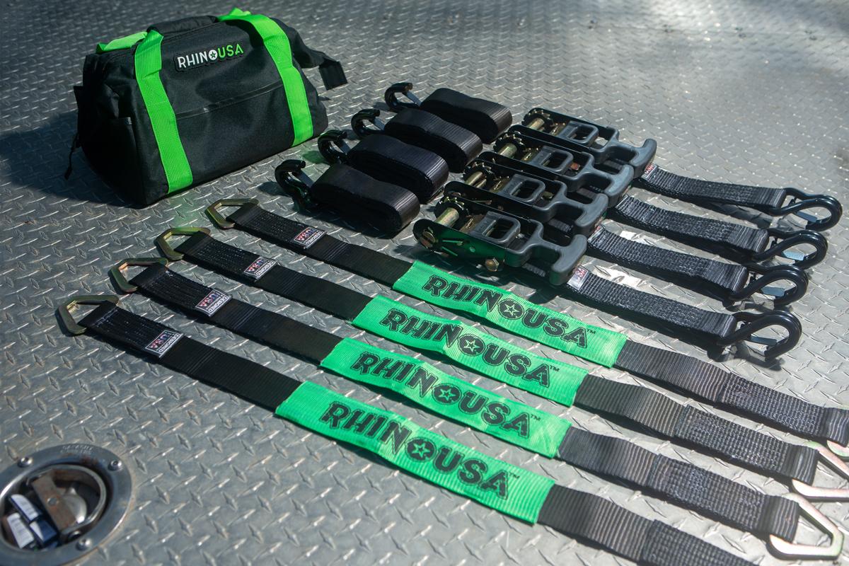 Rhino USA Vehicle Ratchet Tire Down Kit 04 1